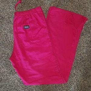 Cherokee workwear fuchsia pink scrub pants size xs